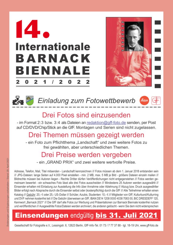 Aufruf zur 14. Barnack-Biennale
